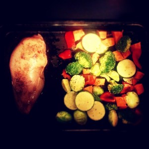 The Daddy of one pot wonders - baked chicken and veggies