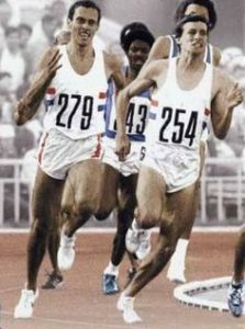 Coe and Ovett duking it out at the Olympics
