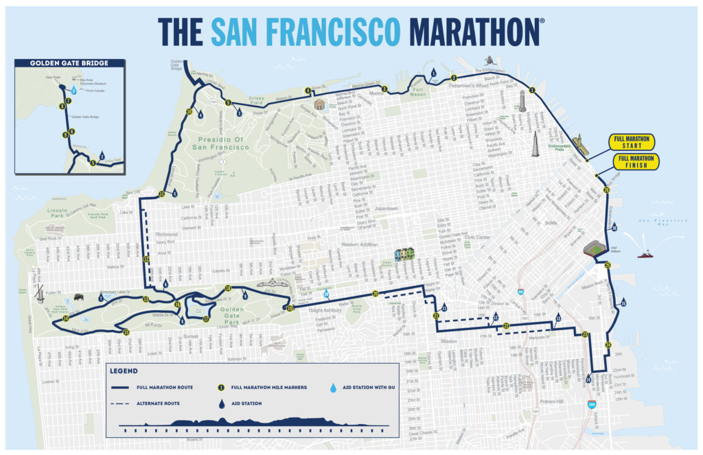 San Francisco marathon course map